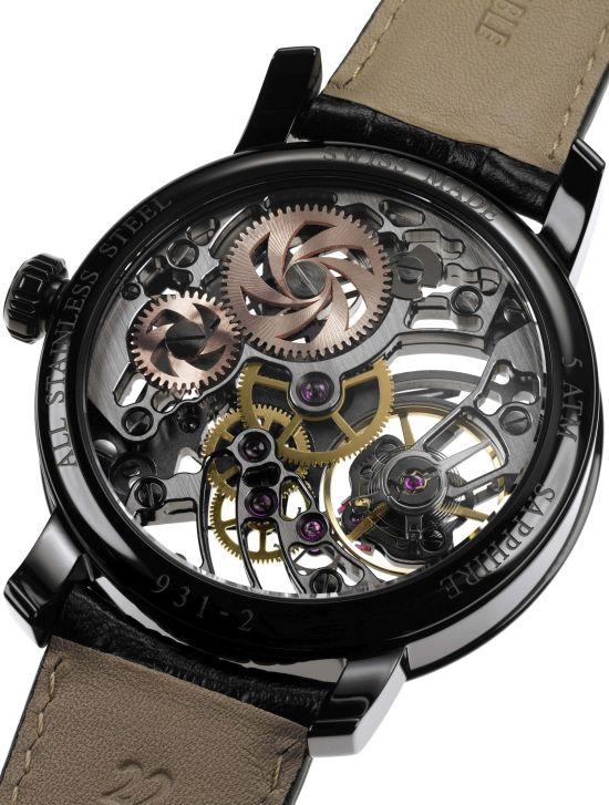 "Aerowatch ""Renaissance Black Tornado"" Skeleton Watch Ref. A 93955 AA01"