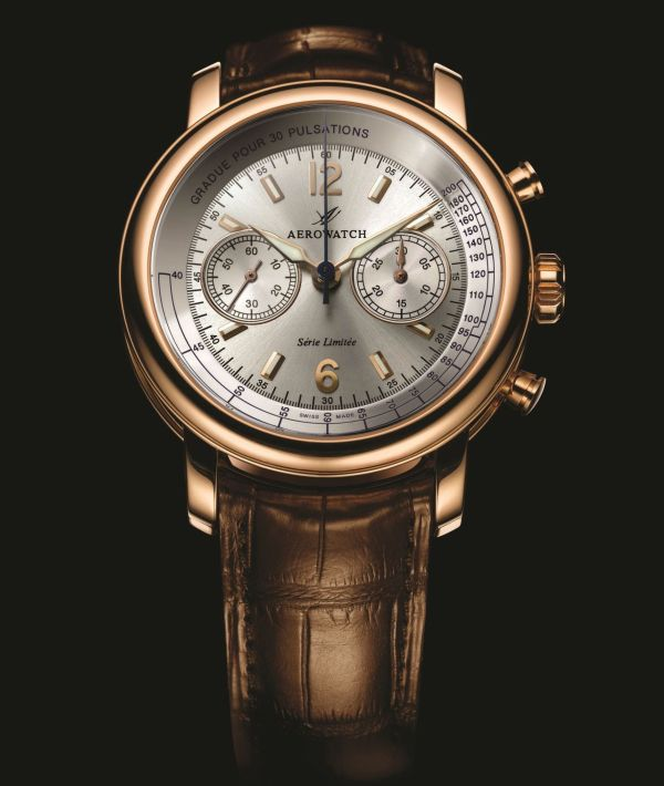 Aerowatch Renaissance Chronograph Valjoux 92 Rose Gold Limited Edition (Ref. 92921 R 801)