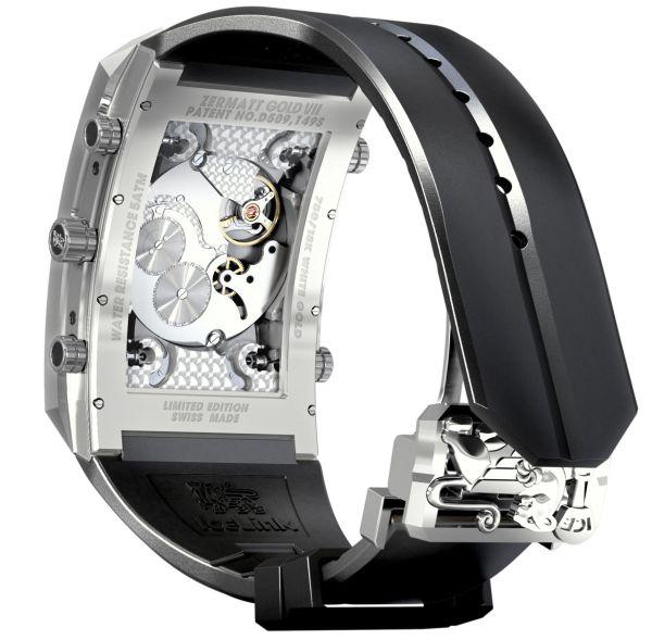 "Icelink ""Zermatt Gold VII"" Limited Edition mechanical watch movement view"