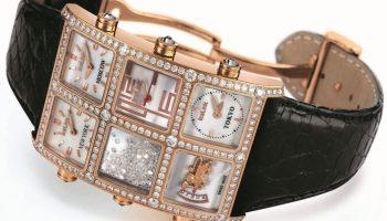Icelink 6 Timezone Snow diamond set watch