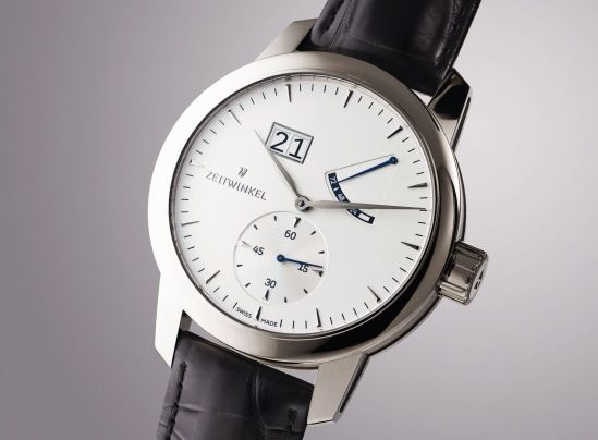 ZEITWINKEL 273° swiss made automatic watch with power reserve display