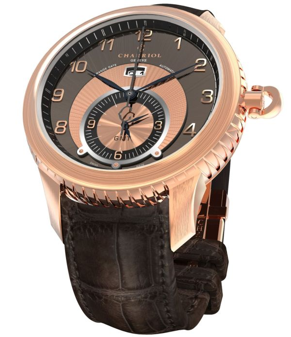 CHARRIOL COLVMBVS™ GMT Watch IN ROSE GOLD PVD CASE