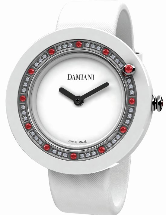 Damiani Belle Époque White Ceramic and Rubies watch