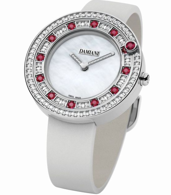 Damiani Belle Époque watch with Semi-setting (Rubies)