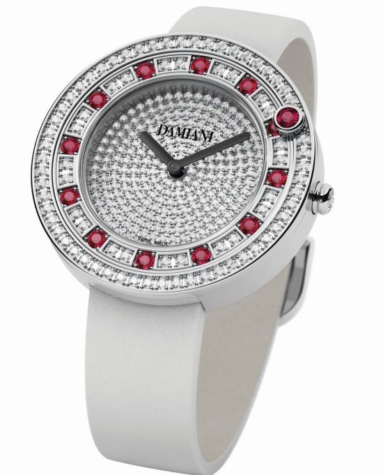 Damiani Belle Époque watch with Full-setting (Rubies)