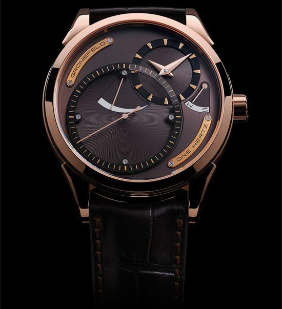 """Grönefeld """"One Hertz Dune"""" Red Gold Limited Edition watch"""