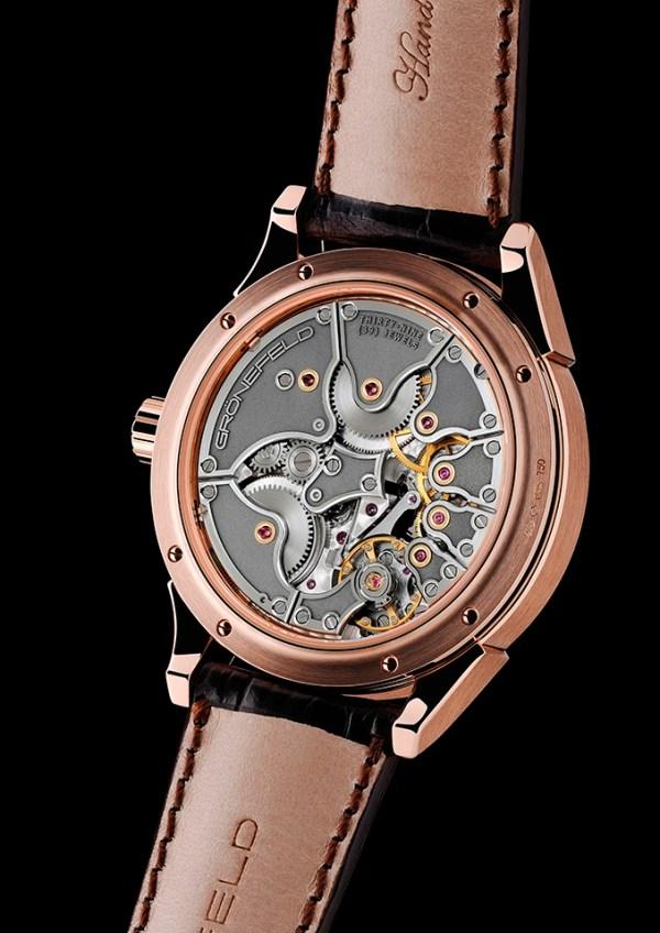 "Grönefeld ""One Hertz Dune"" Red Gold Limited Edition watch movement"