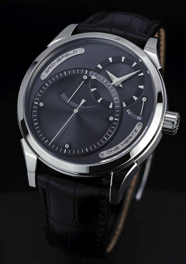 Grönefeld One Hertz Hertz Classic watch ruthenium