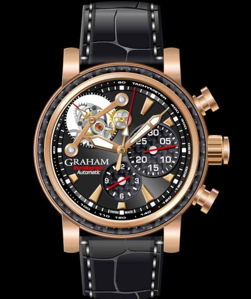 Graham Tourbillograph Woodcote Limited Edition red gold model