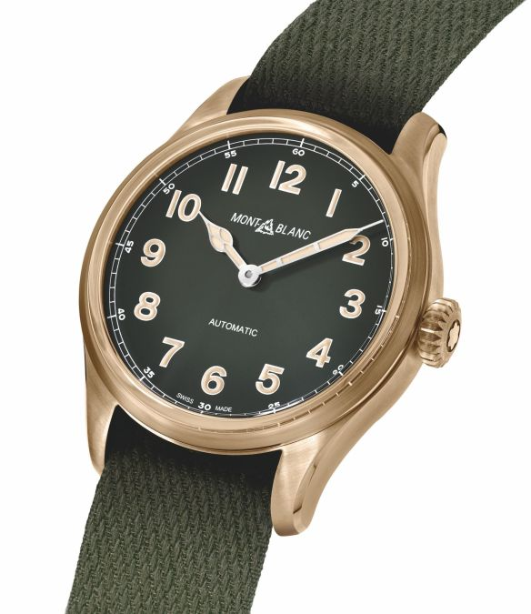 """ee173582233 For legibility and design, the khaki-green dials contrast with historical  luminescent cathedral-shaped hands with a """"cloisonné"""" design that have been  ..."""