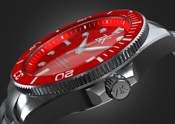 Zahnd & Kormann ZK No. 2 Automatic GMT / Diver Watch red dial