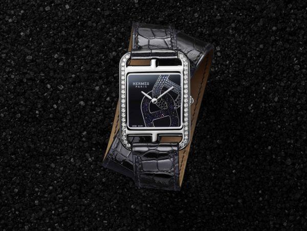 Hermès CAPE COD Chaîne d'ancre watch diamond set case