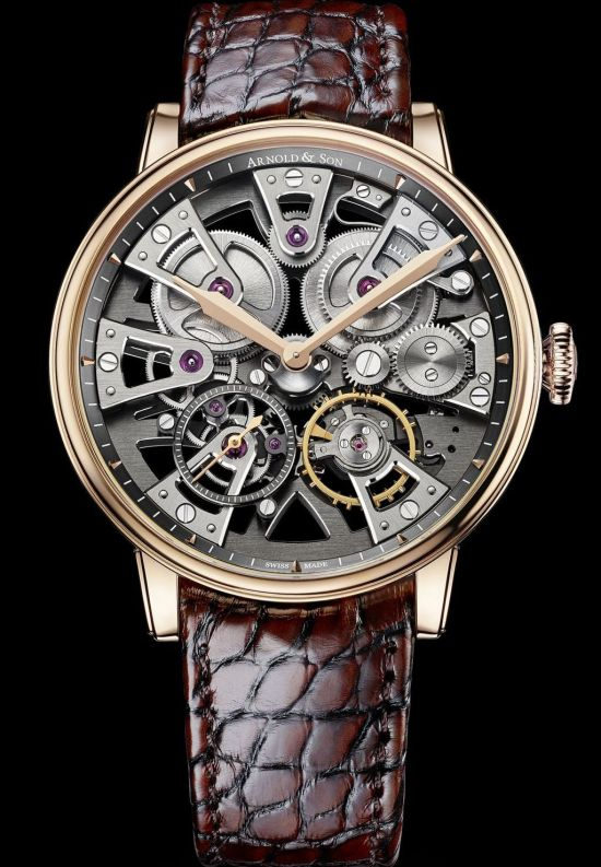 Arnold and Son Nebula 38mm watch red gold