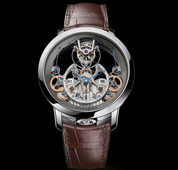 Arnold and Son Time Pyramid Tourbillon watch stainless steel model