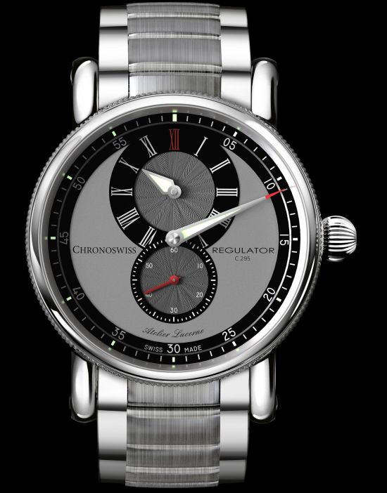 Chronoswiss New Regulator Classic watch with galvanic grey and black dial