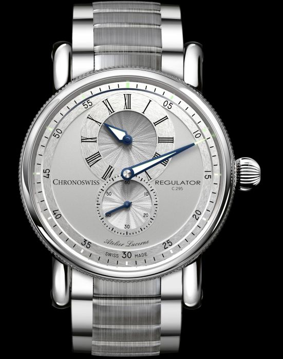 Chronoswiss New Regulator Classic watch with galvanic silver dial