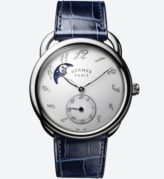 Hermès Arceau Petite Lune watch stainless steel case