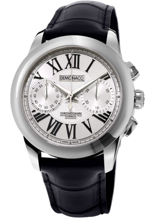 Ateliers deMonaco Admiral Chronographe Flyback Armure stainless steel watch with silver dial