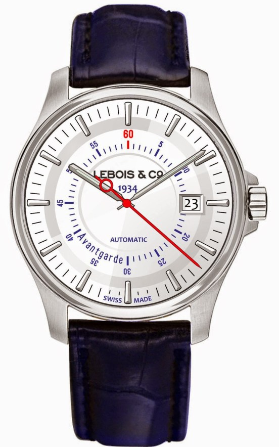 Lebois & Co Avantgarde Date automatic watch