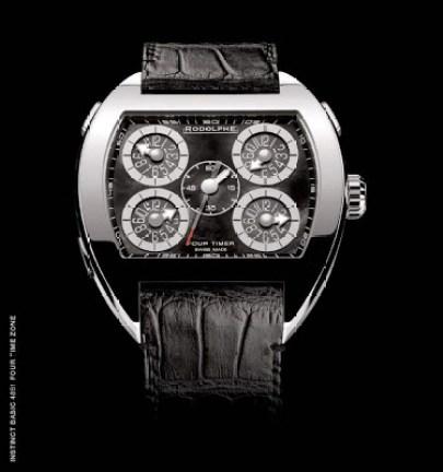 Rodolphe Instinct Basic 4851 Four Time Zone watch