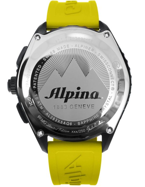 AlpinerX Red Bull Air Race Team 99 Limited Edition Watch, Designed by Michael Goulian case back view