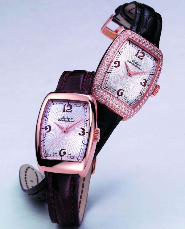 Dubey & Schaldenbrand Lady Celebrity automatic gold watch