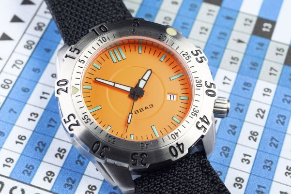 """EOT Collaboration Three """"C3"""" or """"Sea 3"""" Diver watch"""