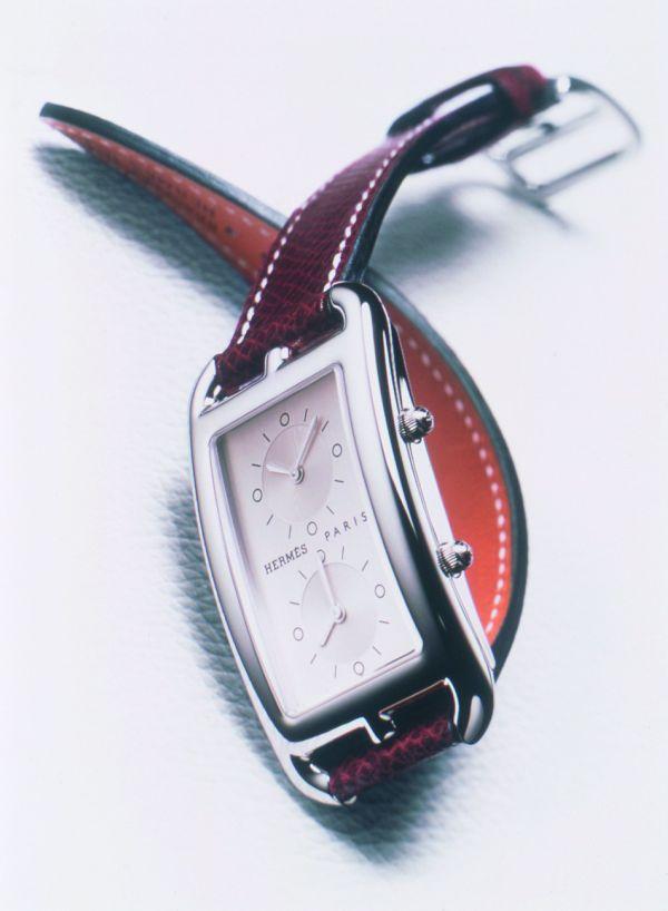 HERMES Cape Cod Deux Zones quartz watch with two timezones