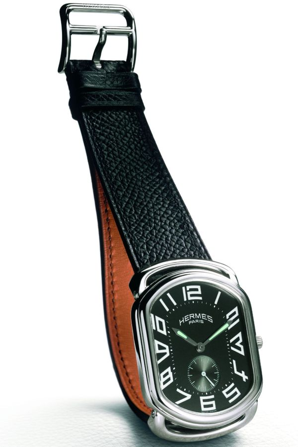 HERMES Rallye, Men's quartz Watch with small seconds at 6 o'clock