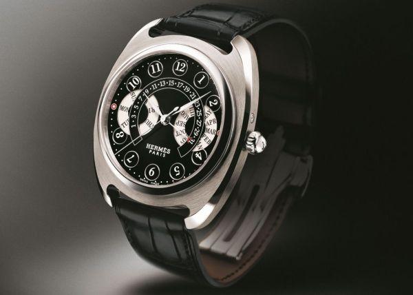 Hermès Dressage Annual calendar automatic watch in white gold