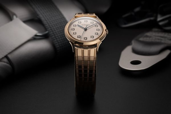 """LeCoultre, """"Lucky 13"""": A unique, historically important and unusual gold-filled time-only wristwatch with center seconds and """"Lucky 13"""" dial, purchased by the consignor directly from the estate sale of Senator John H. Glenn, Jr."""