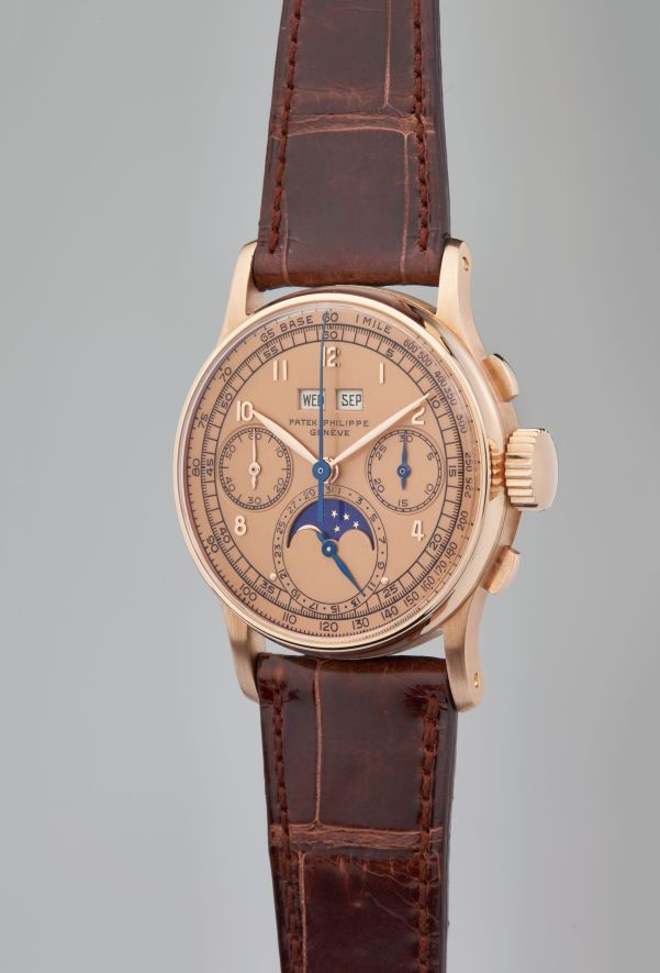 Patek Philippe, Reference 1518 - A Highly Important, Very Rare, and Exceptional Perpetual Calendar Chronograph Wristwatch in 18 Karat Pink Gold, Circa 1947