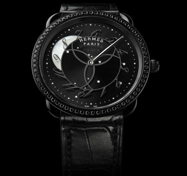 Hermès Arceau Ronde Des Heures quartz Watch Limited Edition with black pvd case