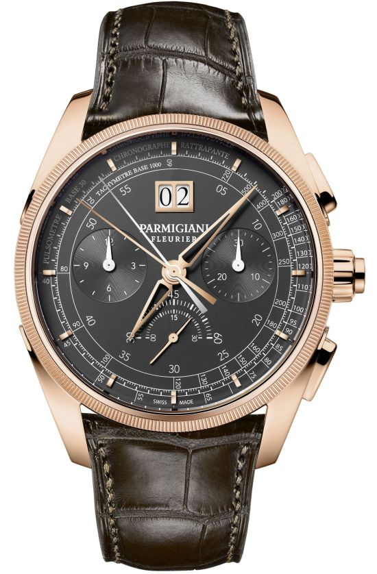 Parmigiani Fleurier Tonda Chronor Slate Limited Edition dial view