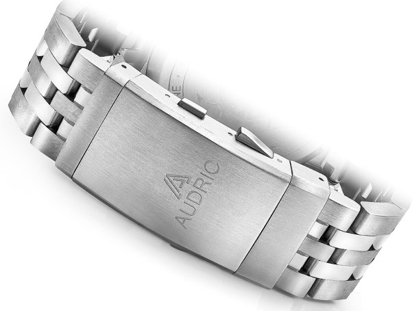AUDRIC SEABORNE Swiss Made Automatic Diving Watch stainless steel bracelet