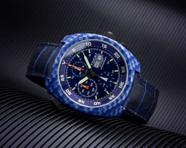 HydroDipped Tockr Air Defender with Hydrographic Printed Carbon Blue Design