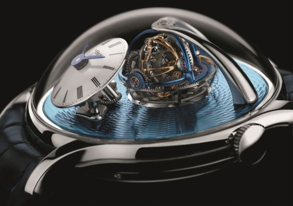 View of triple-axis regulating mechanism - MB&F Legacy Machine Thunderdome Limited Edition