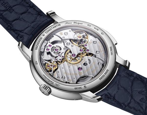"""Caseback view of Vacheron Constantin """"La Musique du Temps®"""" Les Cabinotiers Minute Repeater Perpetual Calendar white gold watch"""