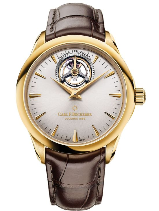 Manero Tourbillon DoublePeripheral, Yellow Gold Model with Silver-Colored Dial