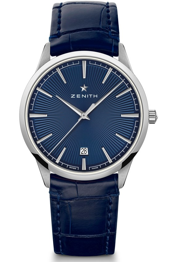 zenith ELITE CLASSIC – 40.5MM stainless steel case blue sunray dial