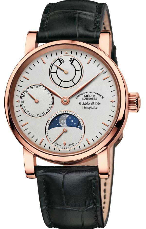 Mühle-Glashütte Robert Mühle Mondphase Limited Edition gold watch