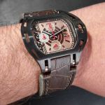 Wryst FORCE Model SX270, New Variant with Black DLC Case, Rose Gold Dial and Brown Alligator Leather Strap