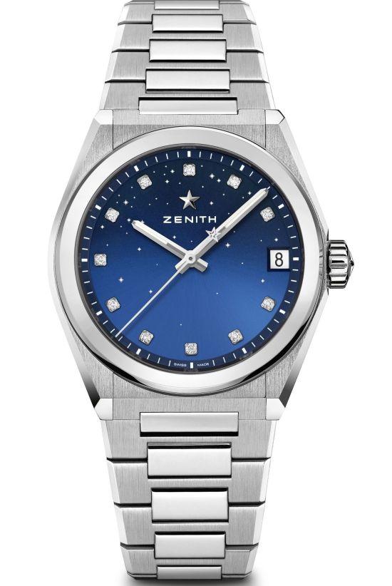 Zenith DEFY Midnight models 2 gradient blue dial