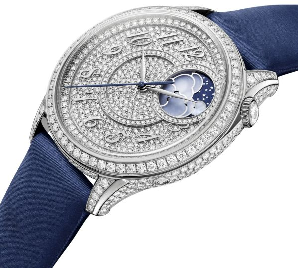 Vacheron Constantin Égérie moon phase diamond-pavé