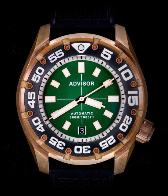 Advisor SUPA Diver Bronze Swiss Automatic Watch green dial