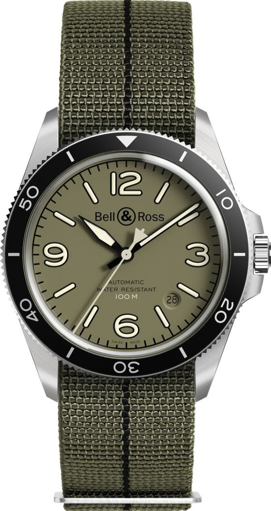 Bell & Ross - BR V2-92 Military Green with nato strap