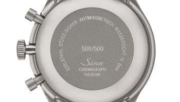 Caseback view of SINN 158 Limited Edition: The Traditional Bicompax Chronograph