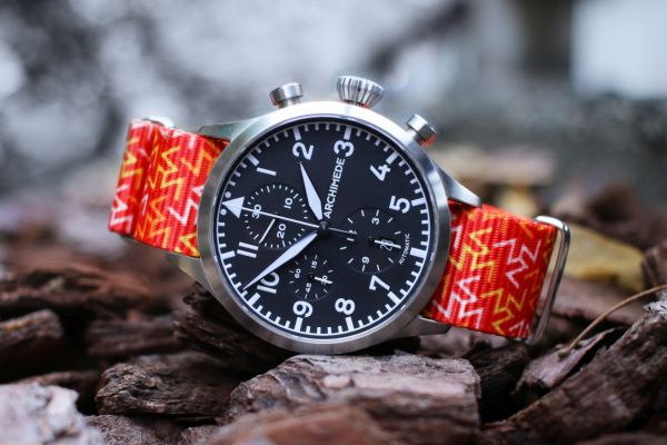 Archimede Automatic Chronograph with Vario Graphic Nato Watch Strap