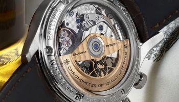 Brellum Duobox Gold Edition 2020 automatic chronograph caseback view
