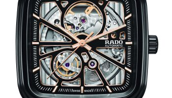 Rado True Square Open Heart (New models with high-tech ceramic case and skeletonised dial)